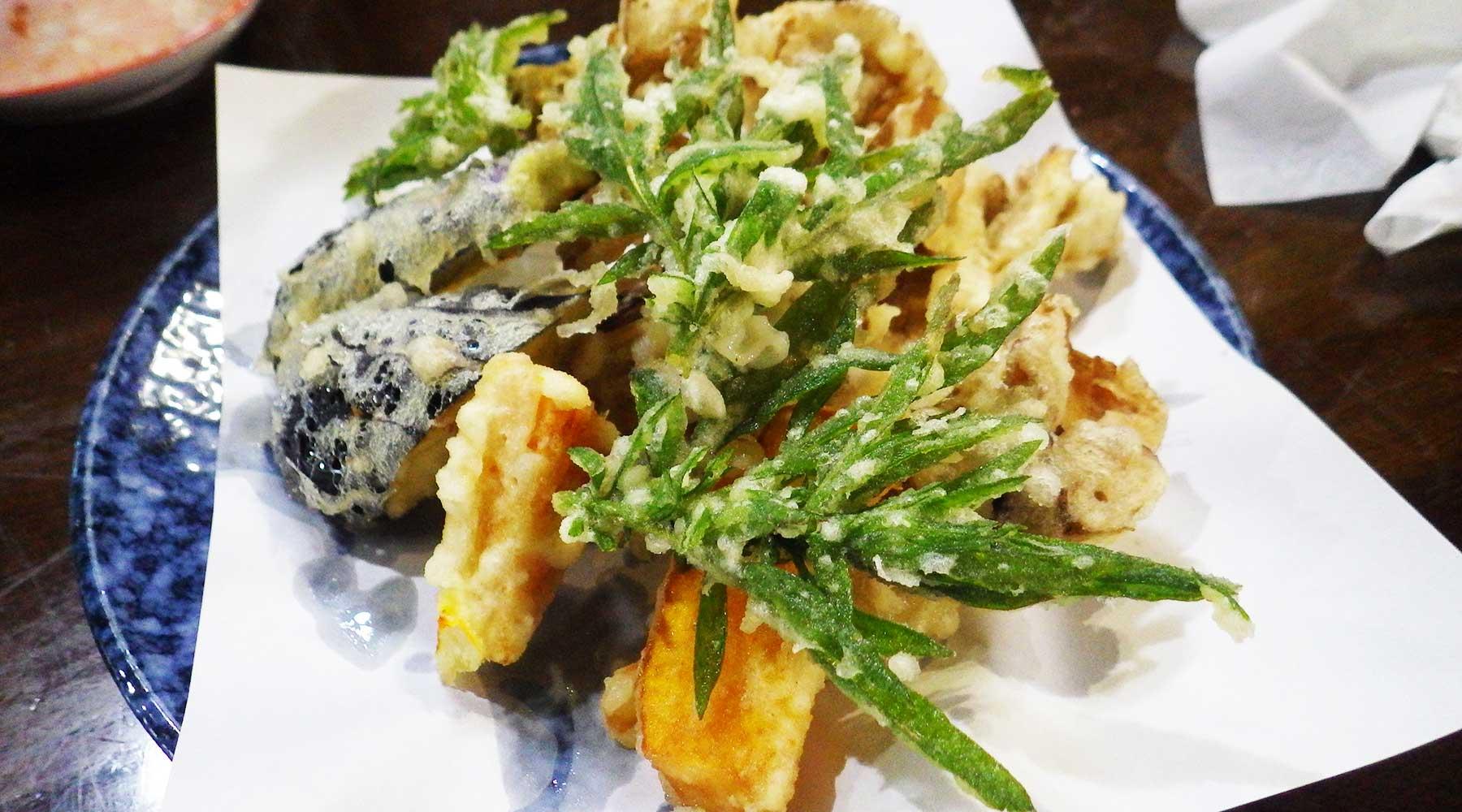 横川のさと・山菜天ぷら