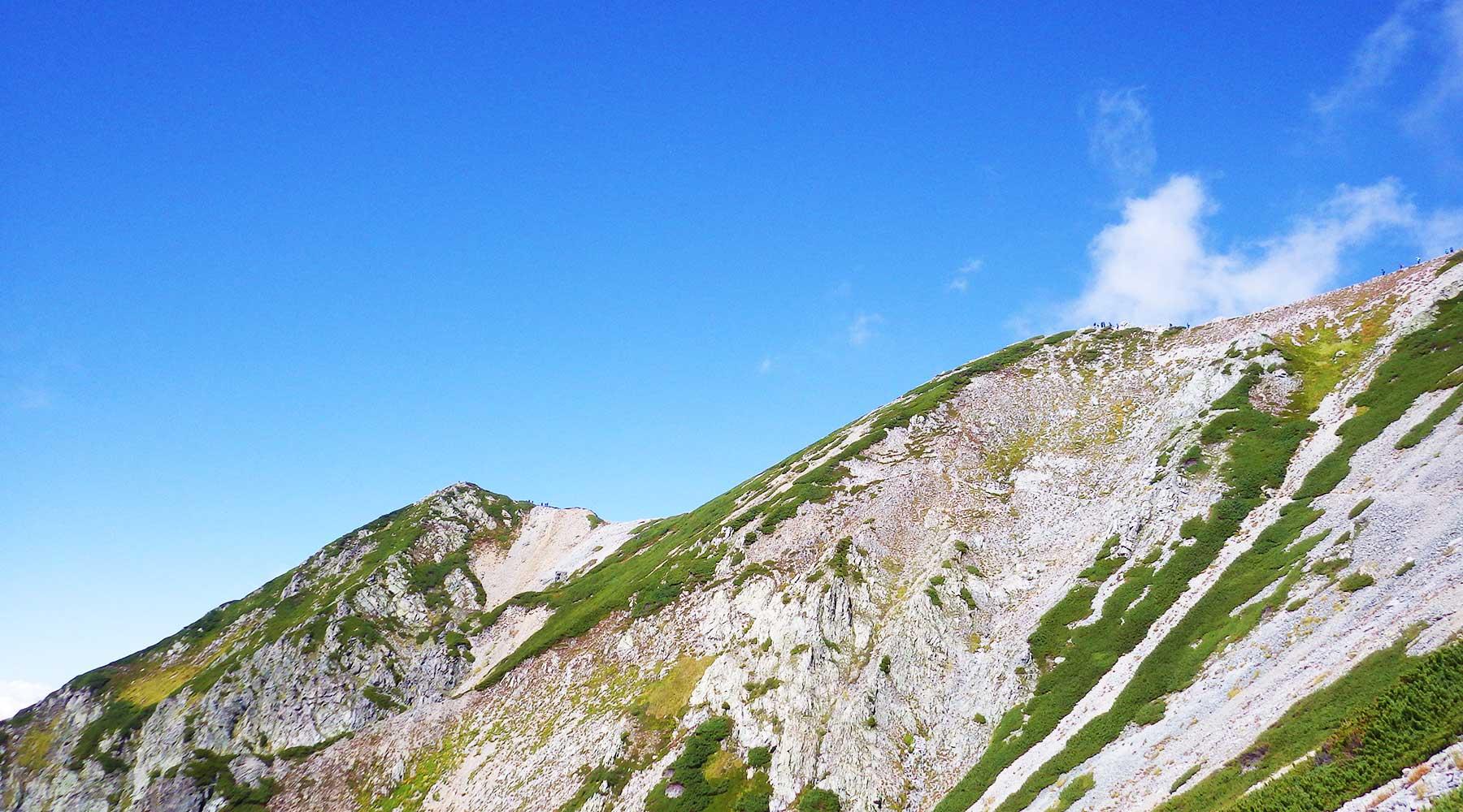 別山の南斜面