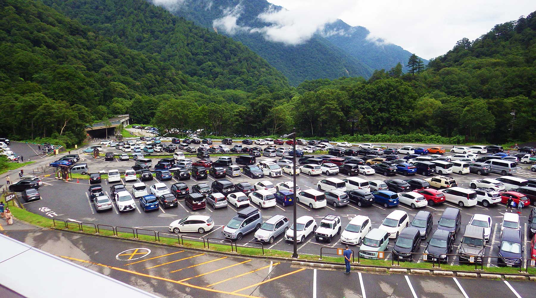 扇沢の有料駐車場