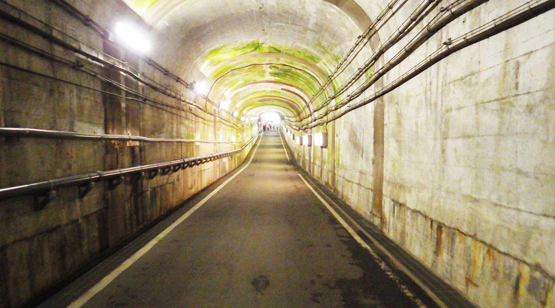 黒部ダムのトンネル