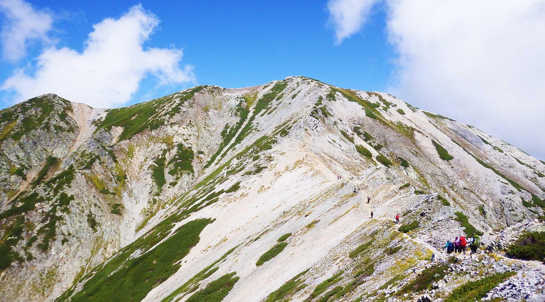 別山への登り