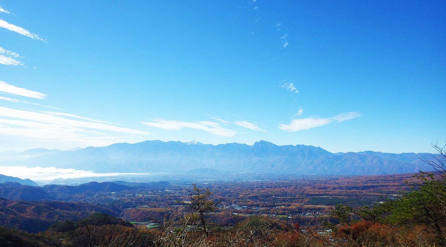 飯盛山からの南アルプス