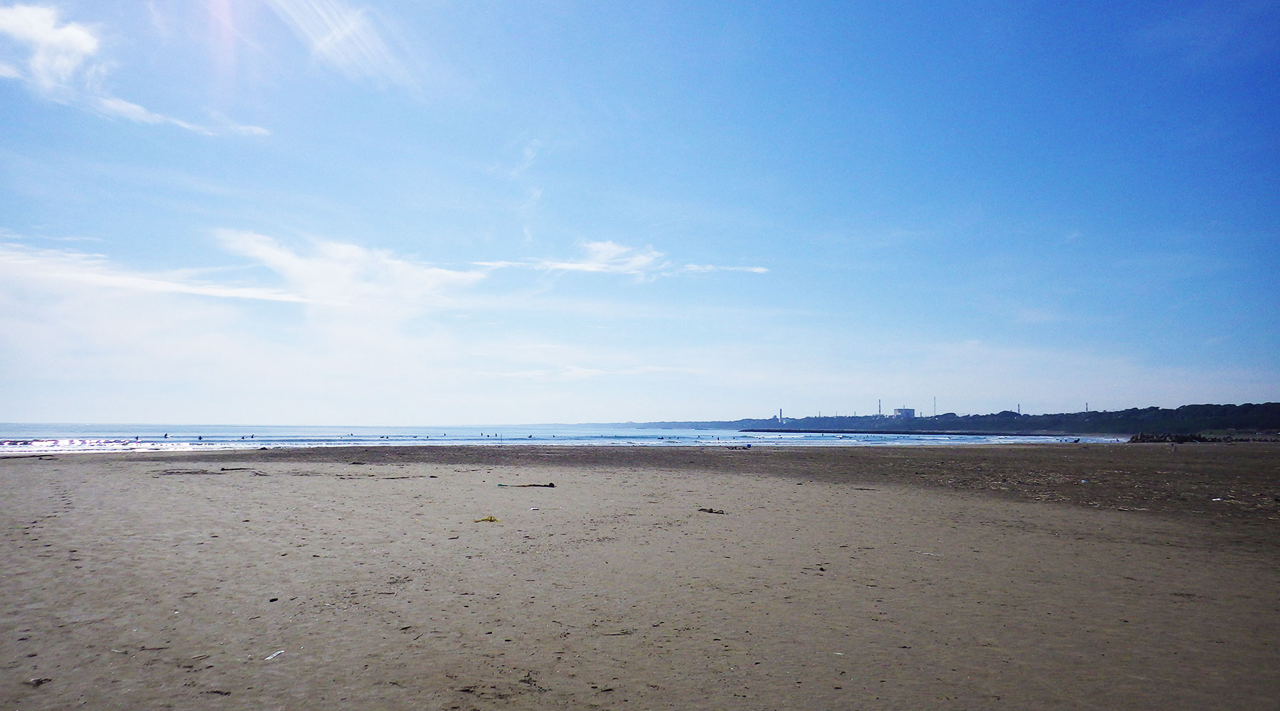 大洗サンビーチの砂浜