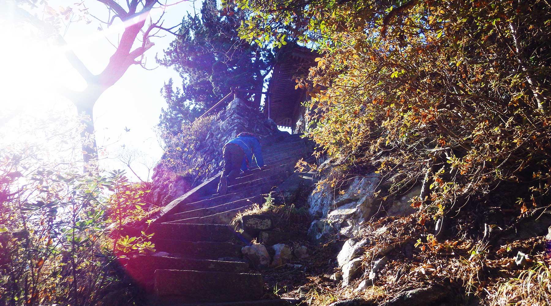 雲見浅間神社本殿下の階段