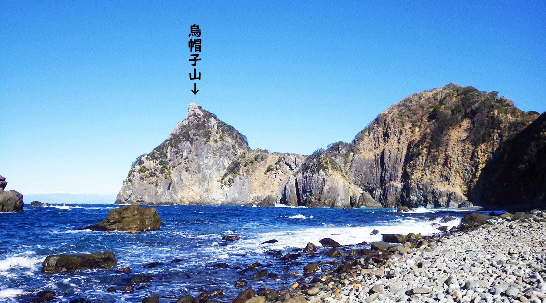 千貫門から見た烏帽子山(雲見浅間神社本殿)