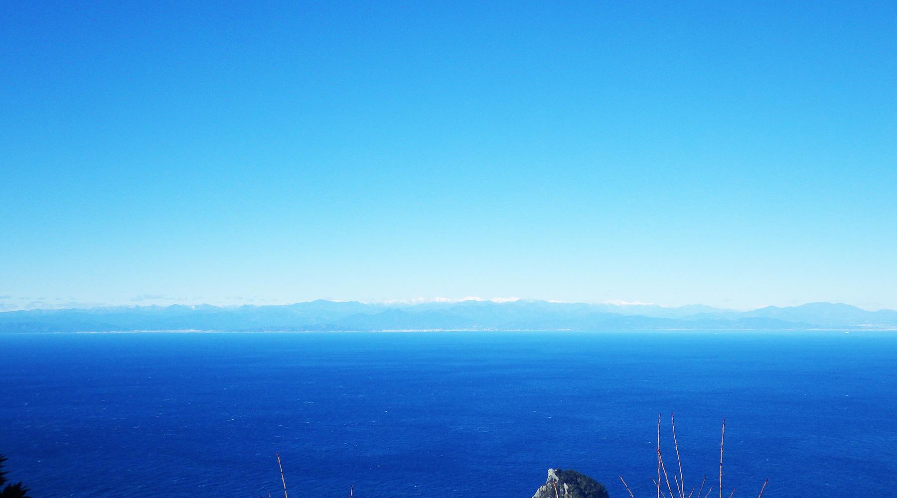 高通山山頂からの南アルプス