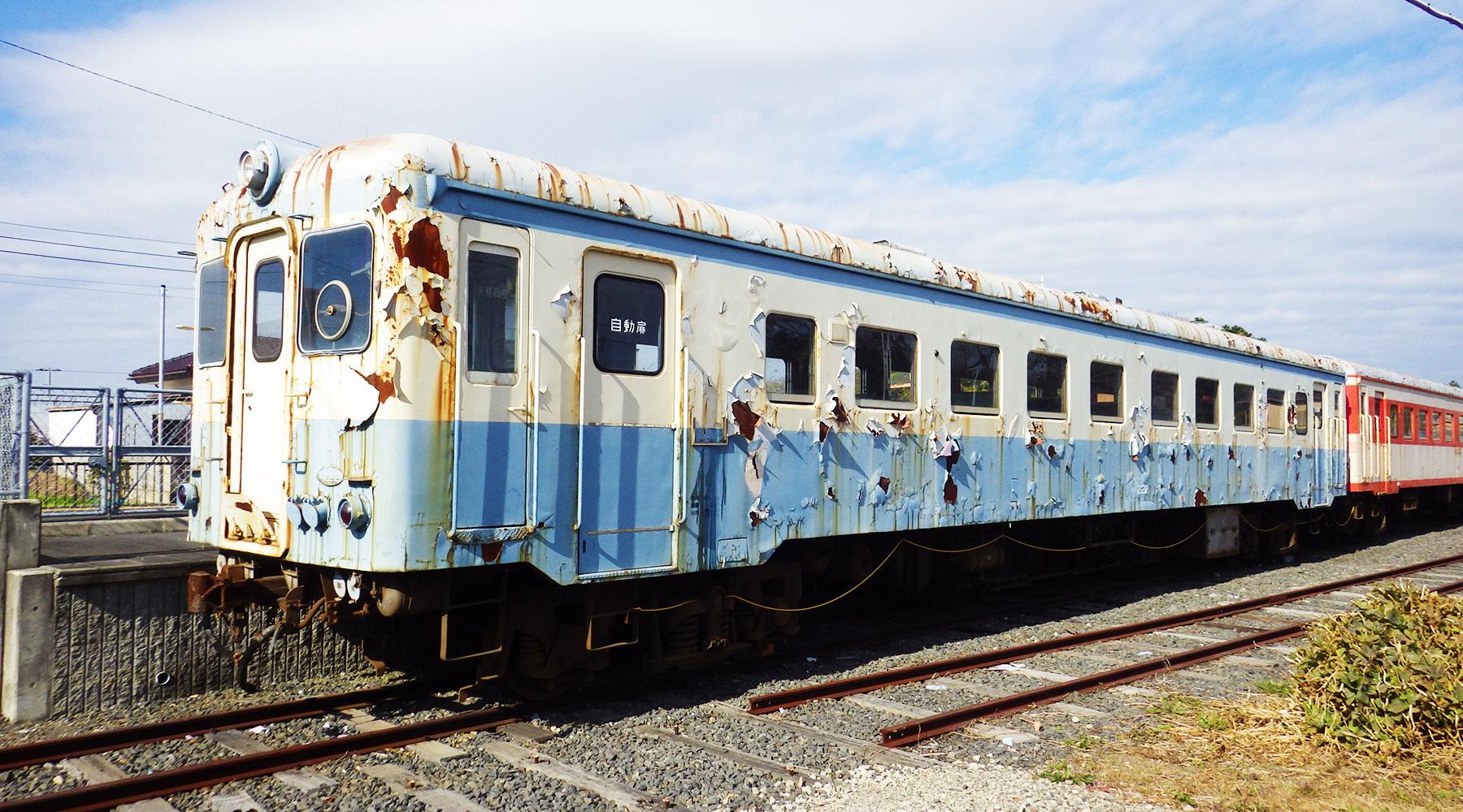 阿字ヶ浦駅に展示されている車輌