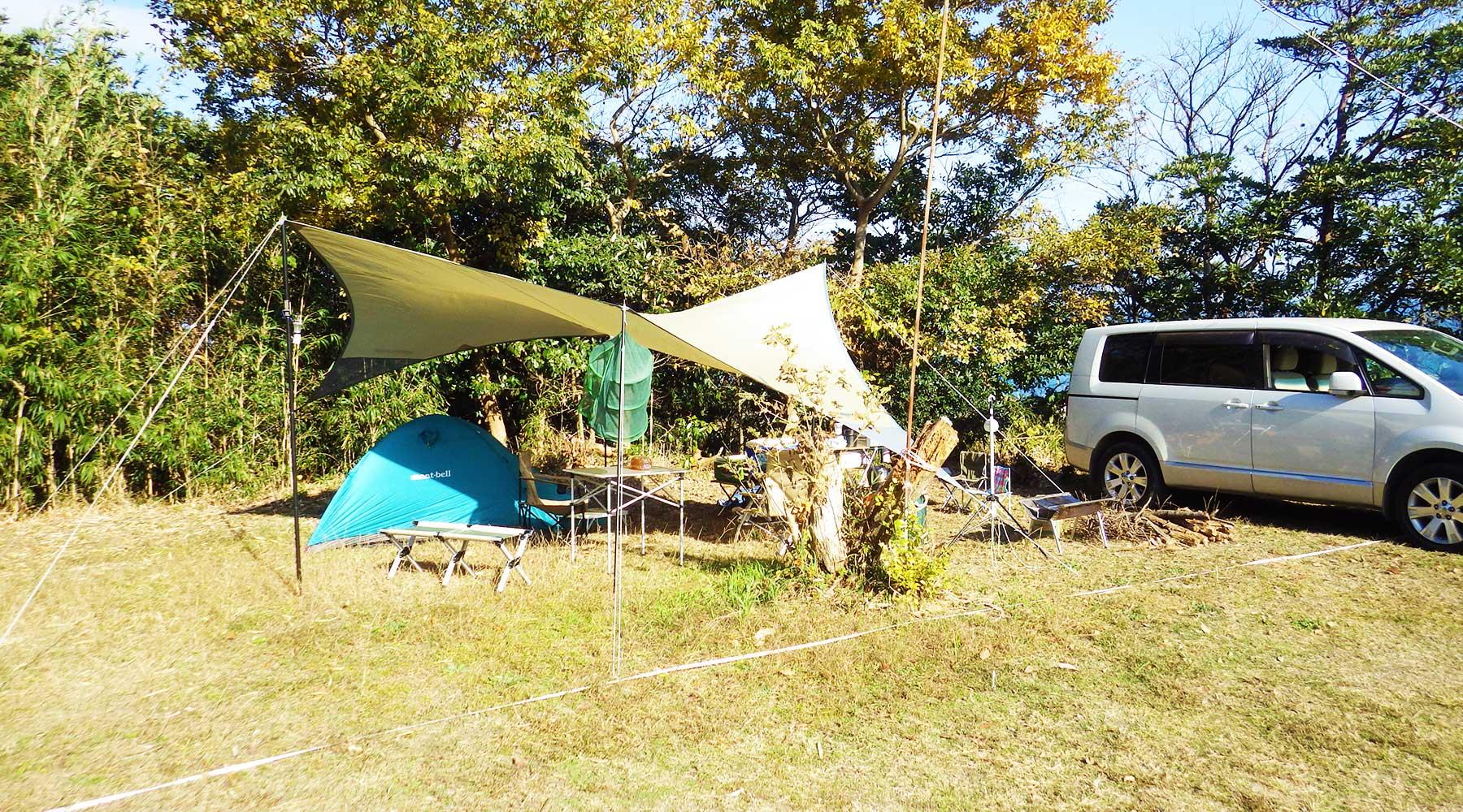 田の上キャンプ場サイト18