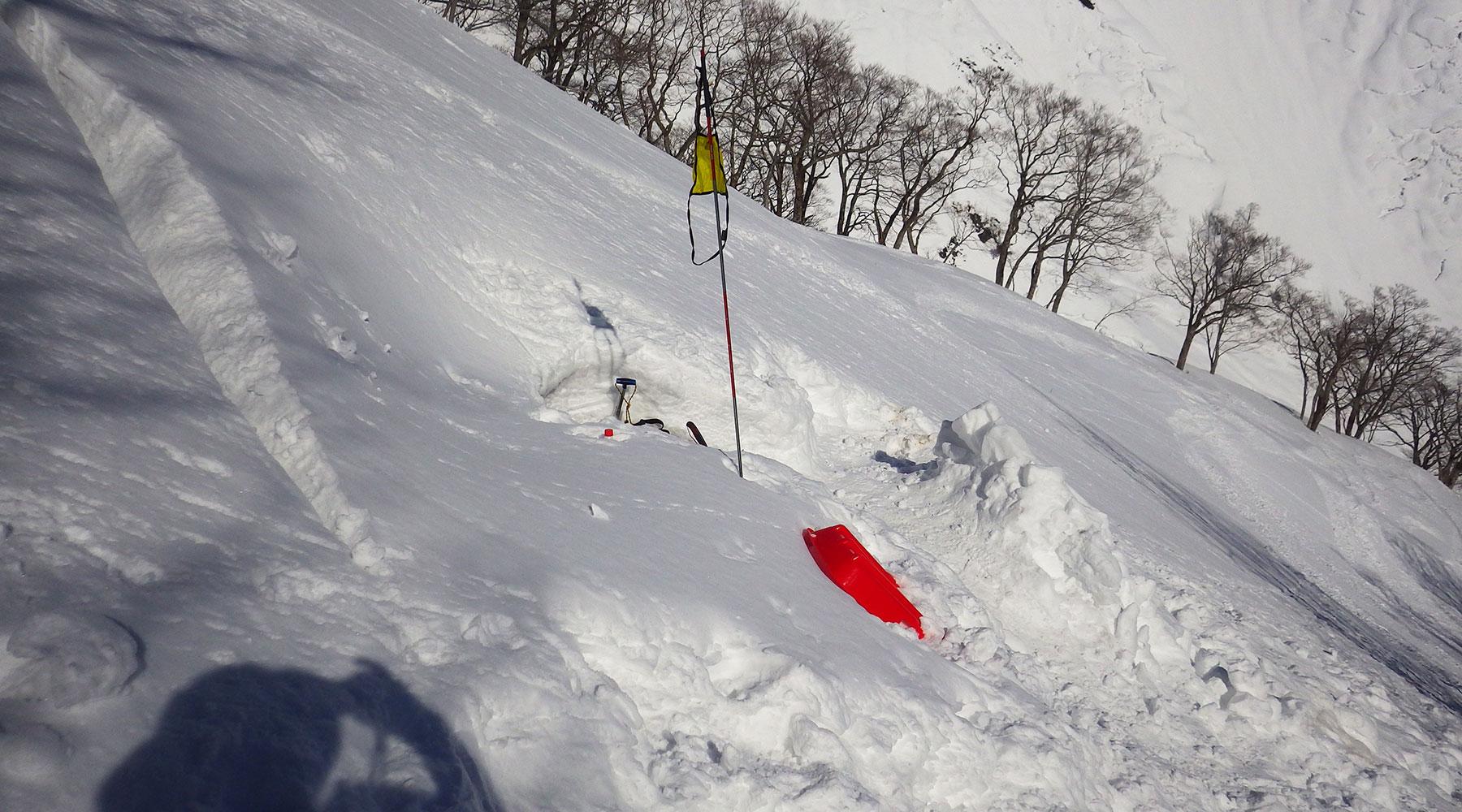 谷川岳・誰かの雪洞