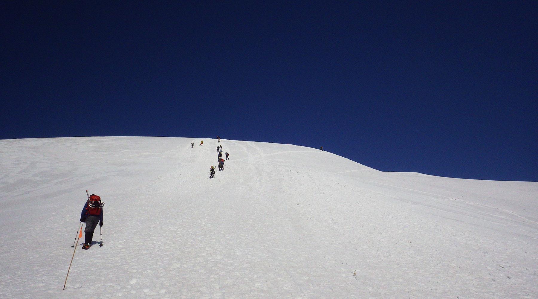 谷川岳・最後の登り