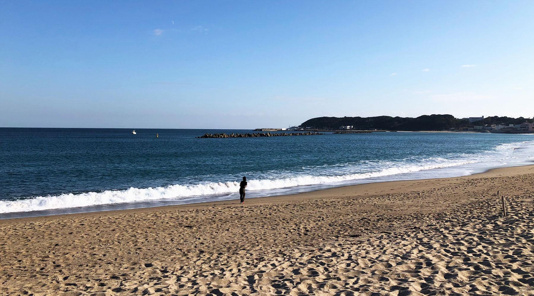 阿字ヶ浦海水浴場の砂浜