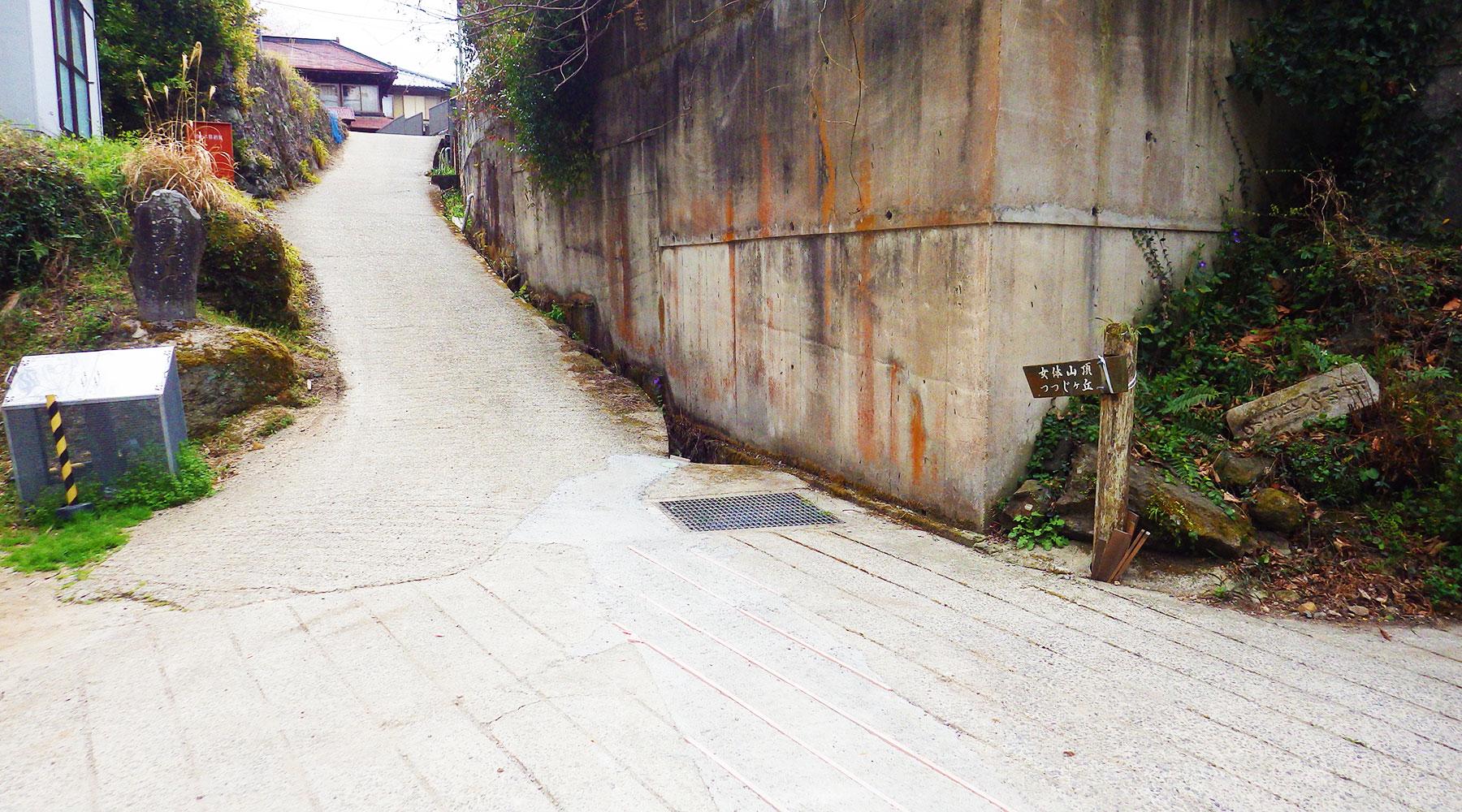 筑波山白雲橋コースへ