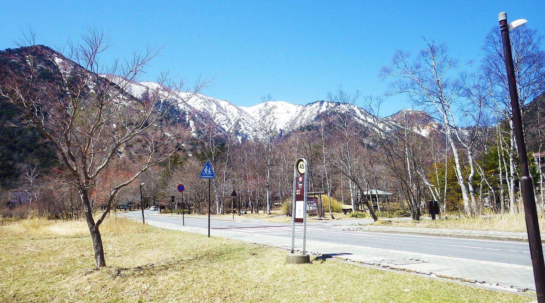 日光湯元温泉の一つ手前にある湖畔前バス停