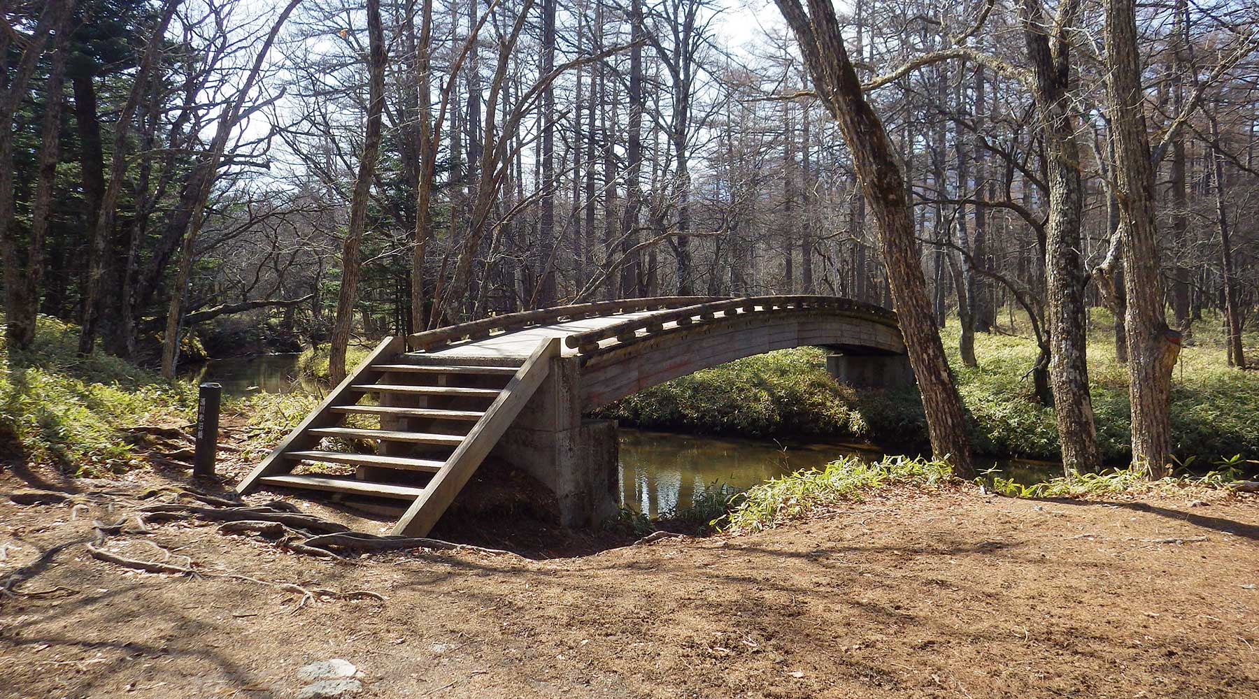 小田代ヶ原方面への橋