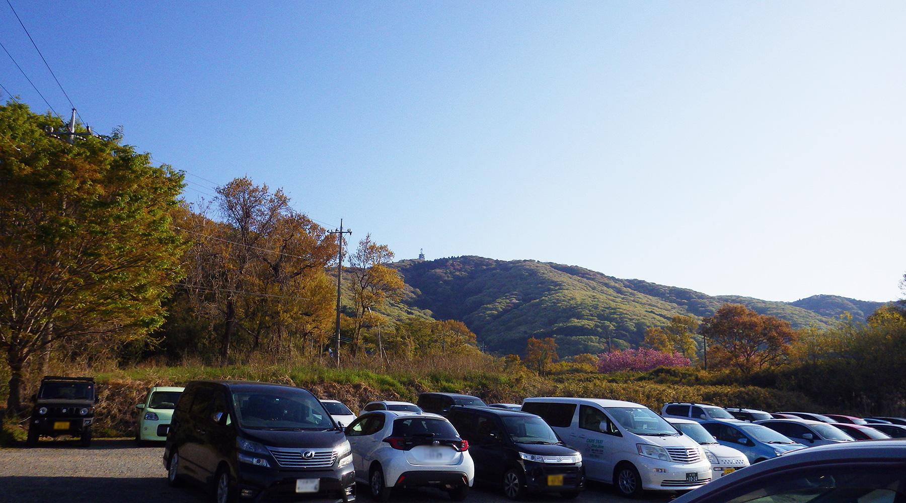 宝篋山・小田休憩所隣の駐車場