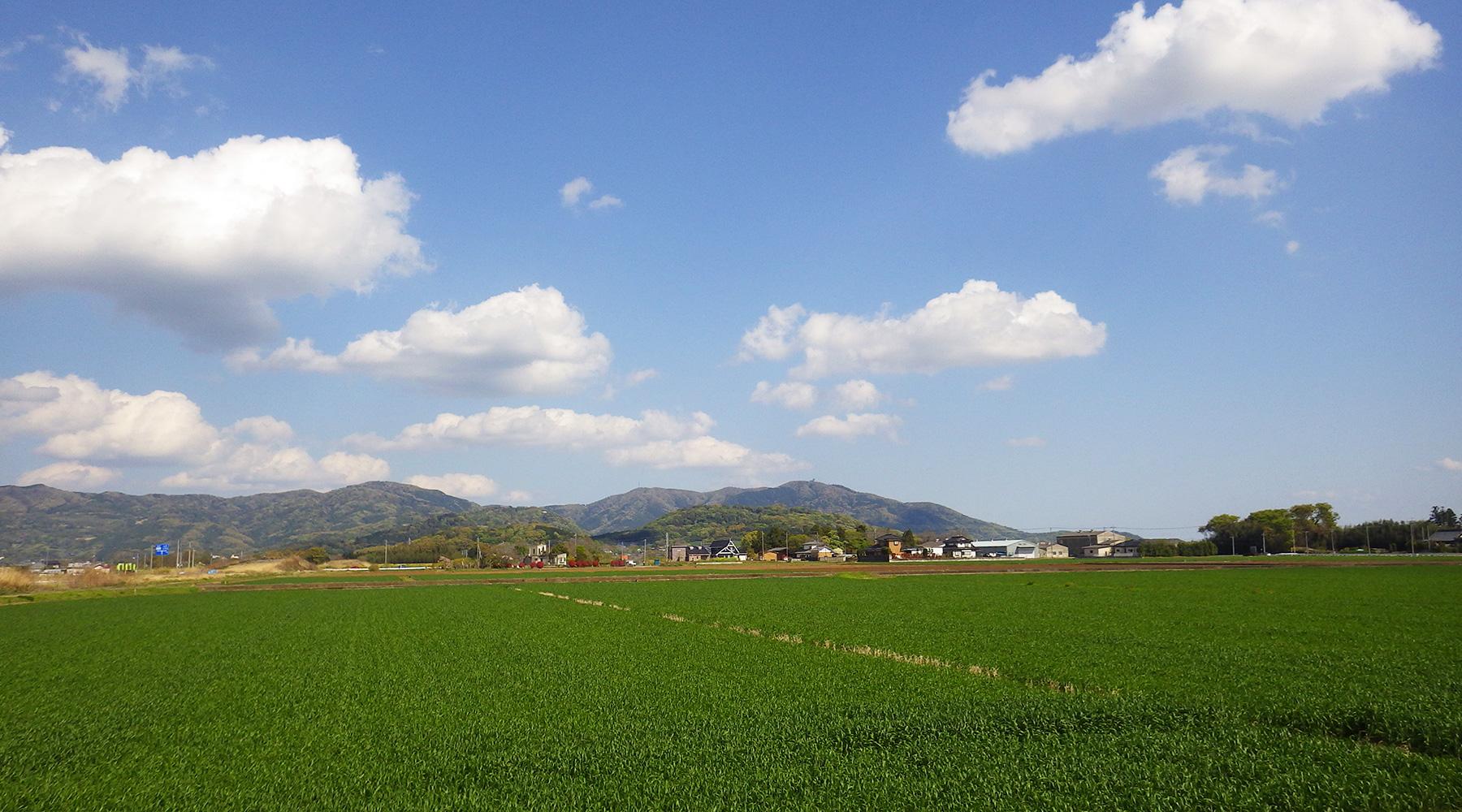 西から見た宝篋山